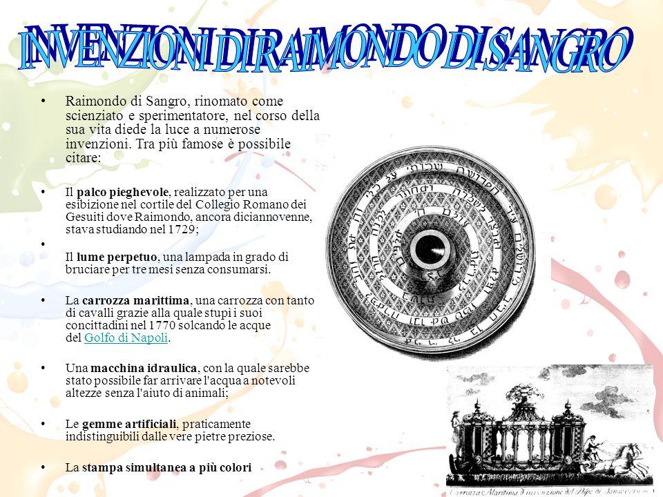 INVENZIONI DI RAIMONDO DI SANGRO