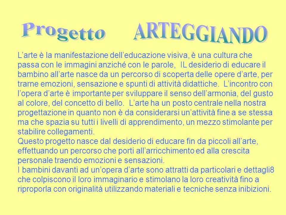 Progetto ARTEGGIANDO.