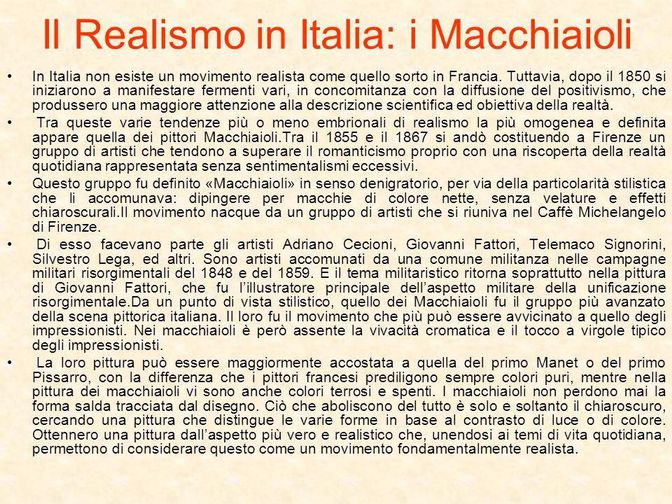 Il Realismo in Italia: i Macchiaioli
