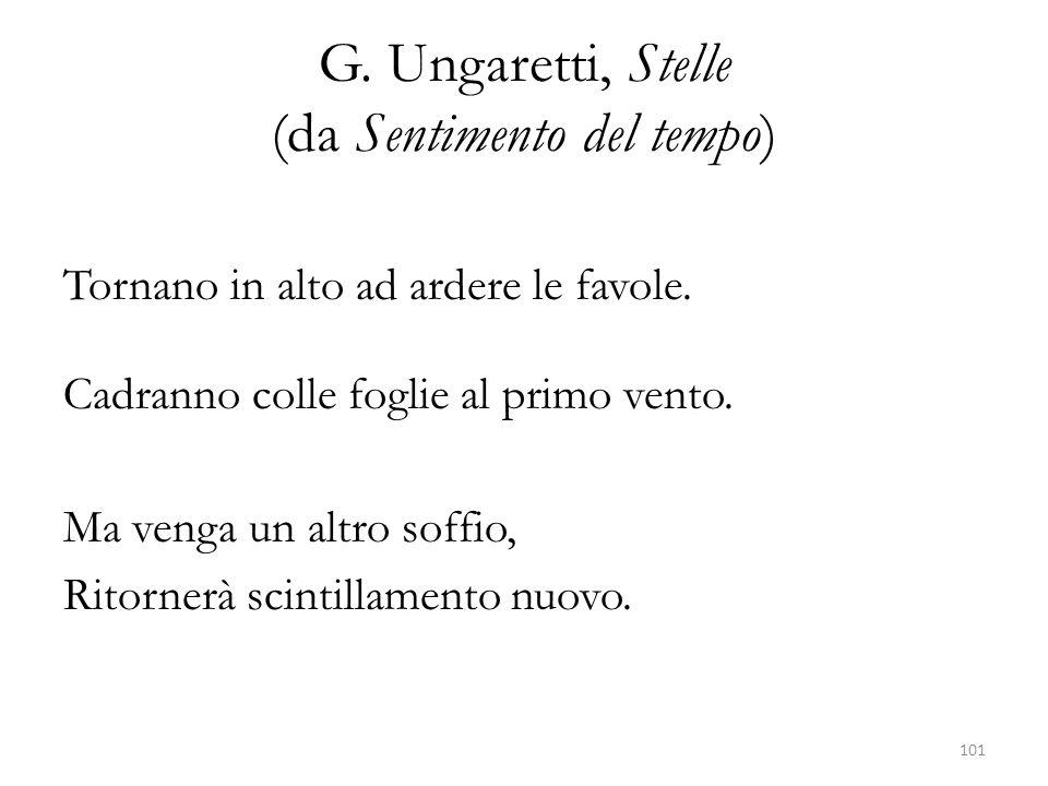 G. Ungaretti, Stelle (da Sentimento del tempo)