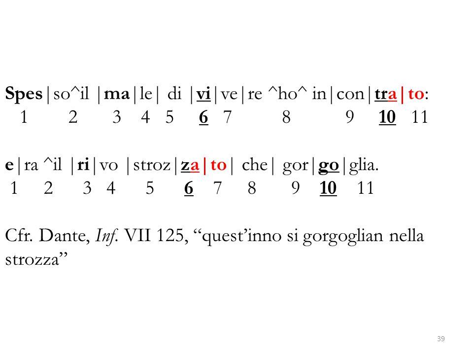 Spes|so^il |ma|le| di |vi|ve|re ^ho^ in|con|tra|to: