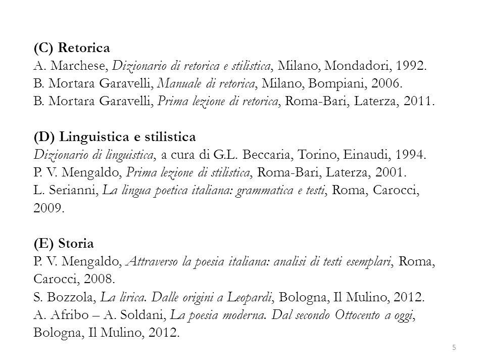 (C) Retorica A. Marchese, Dizionario di retorica e stilistica, Milano, Mondadori, 1992.