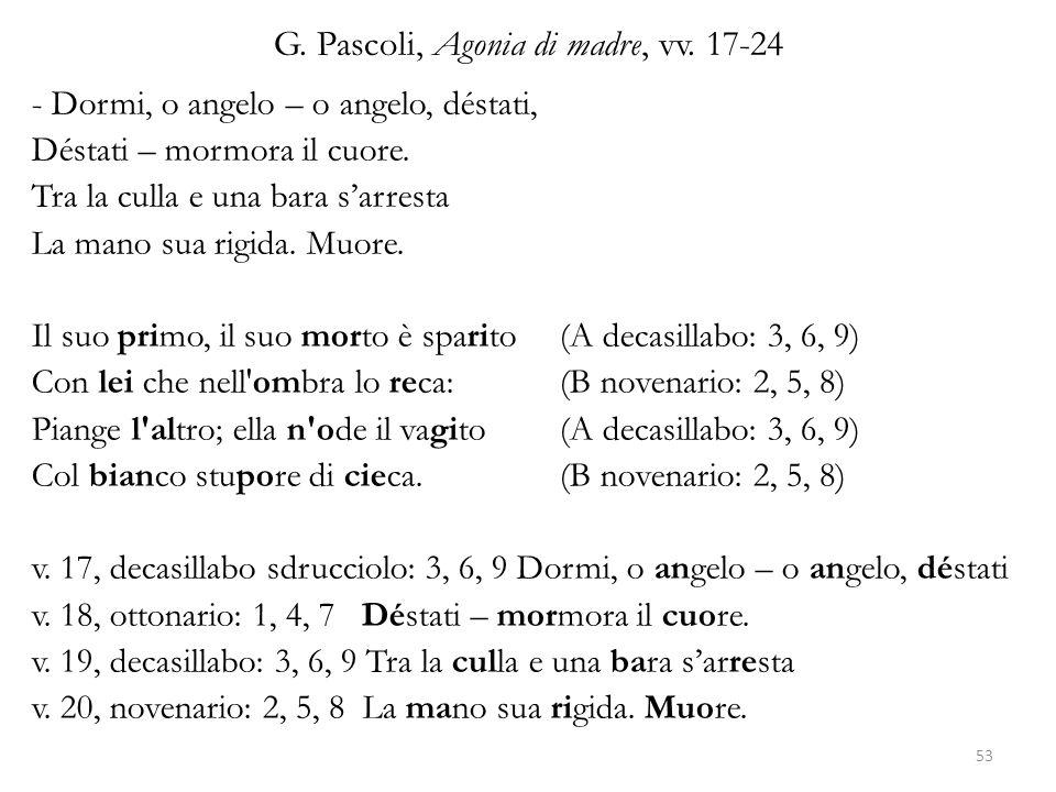 G. Pascoli, Agonia di madre, vv. 17-24