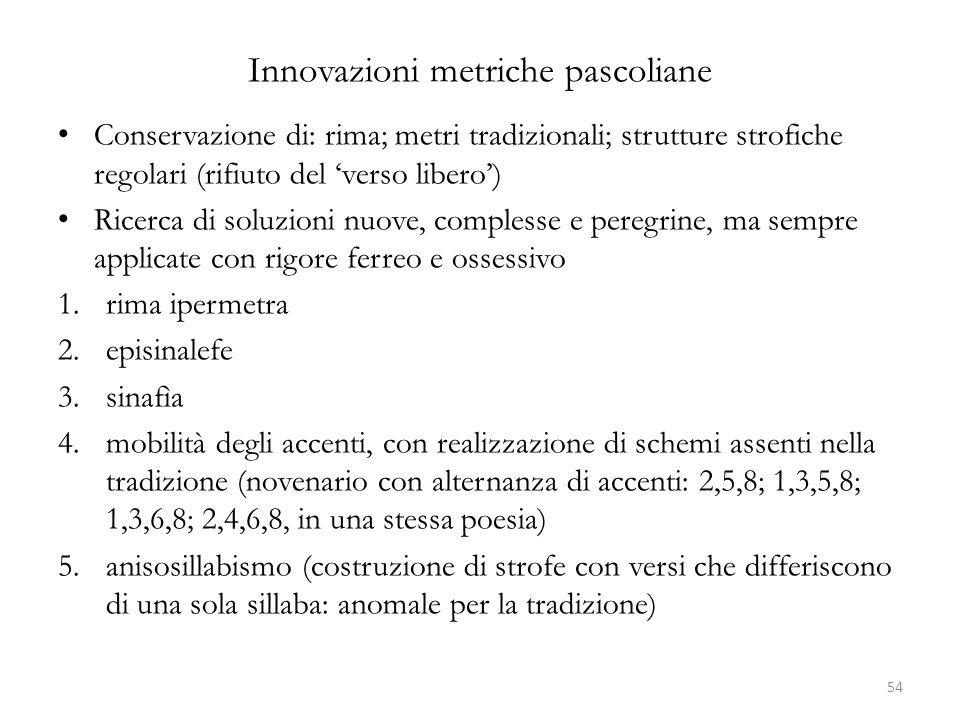Innovazioni metriche pascoliane