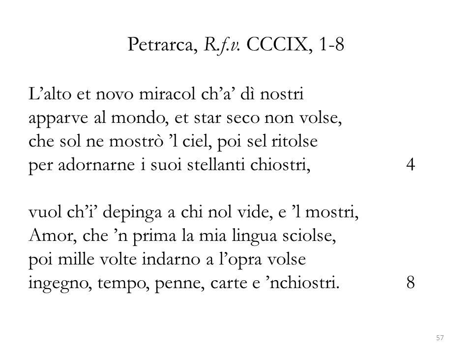 Petrarca, R.f.v. CCCIX, 1-8