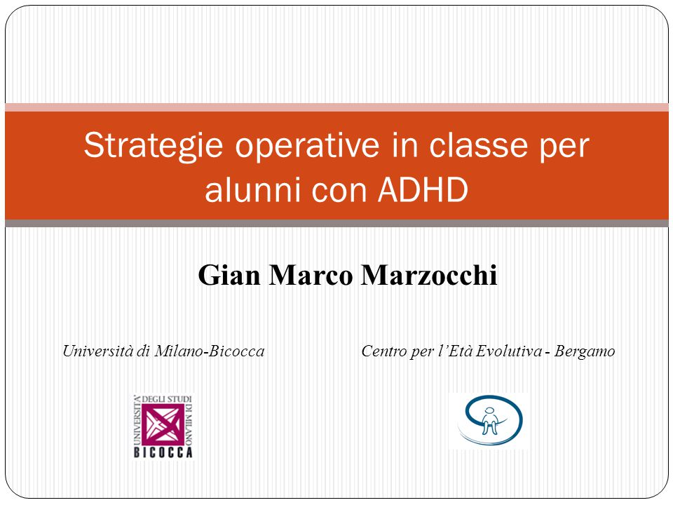 Strategie operative in classe per alunni con ADHD