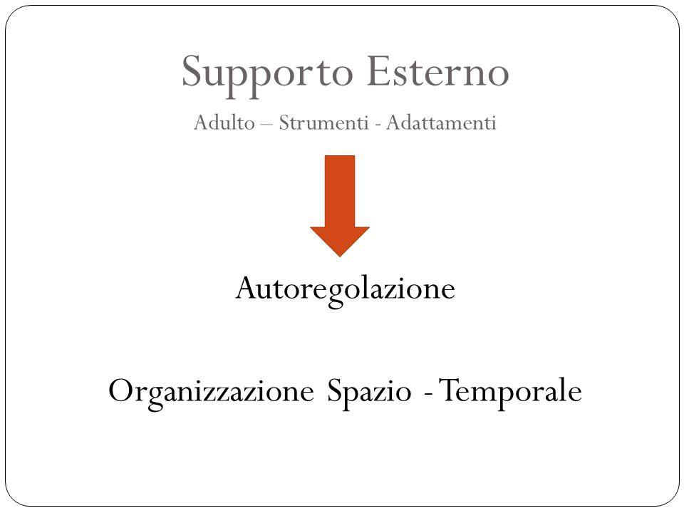 Supporto Esterno Autoregolazione Organizzazione Spazio - Temporale