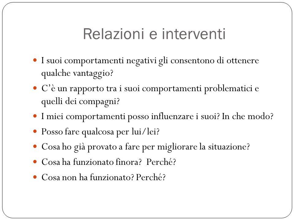 Relazioni e interventi