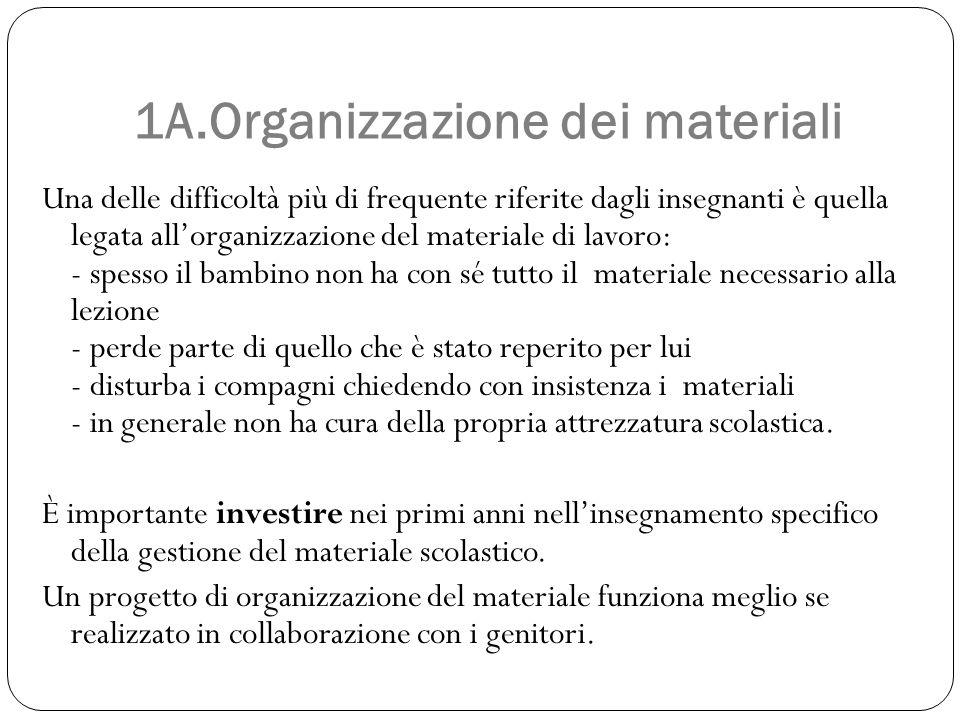 1A.Organizzazione dei materiali