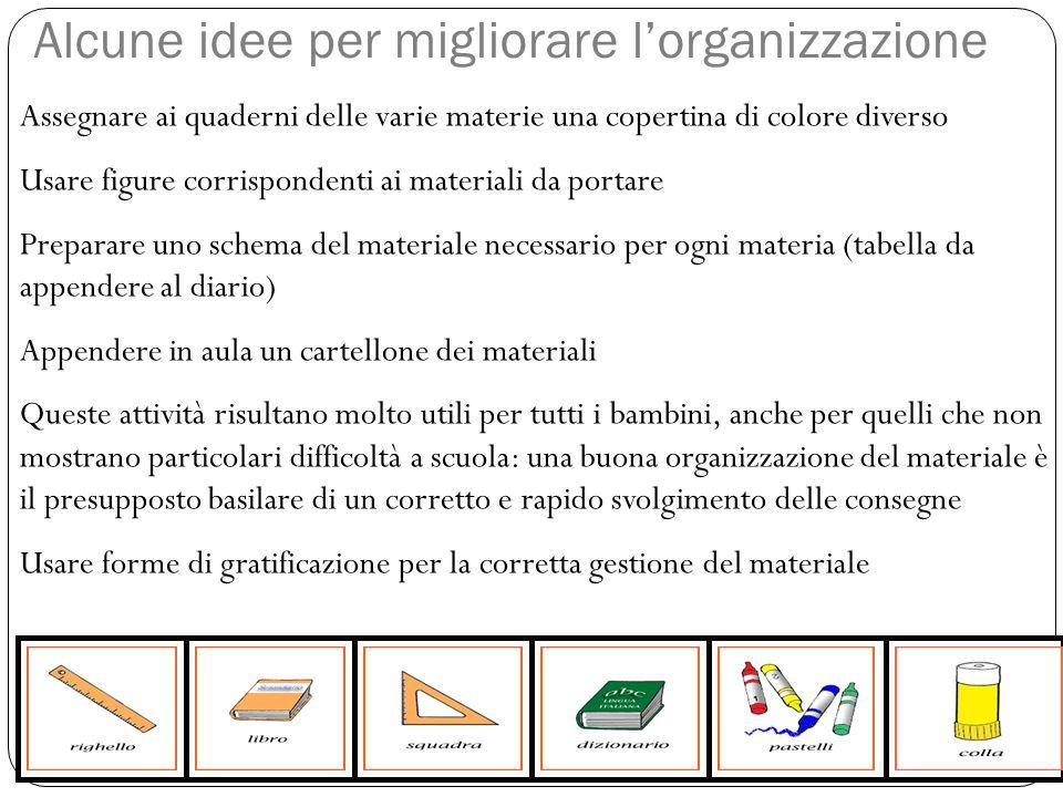 Alcune idee per migliorare l'organizzazione