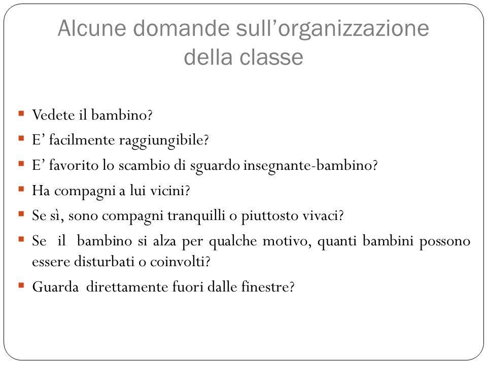 Alcune domande sull'organizzazione della classe