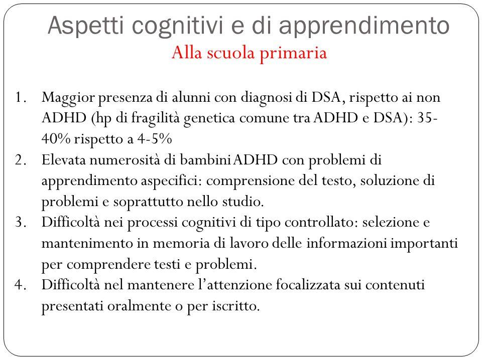 Aspetti cognitivi e di apprendimento