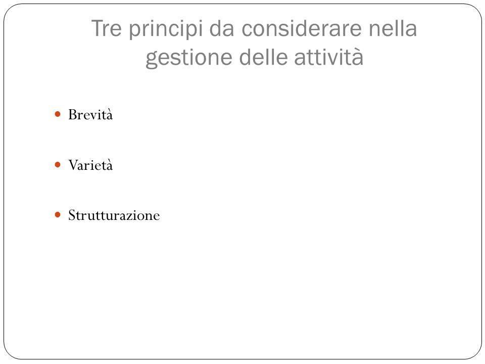 Tre principi da considerare nella gestione delle attività