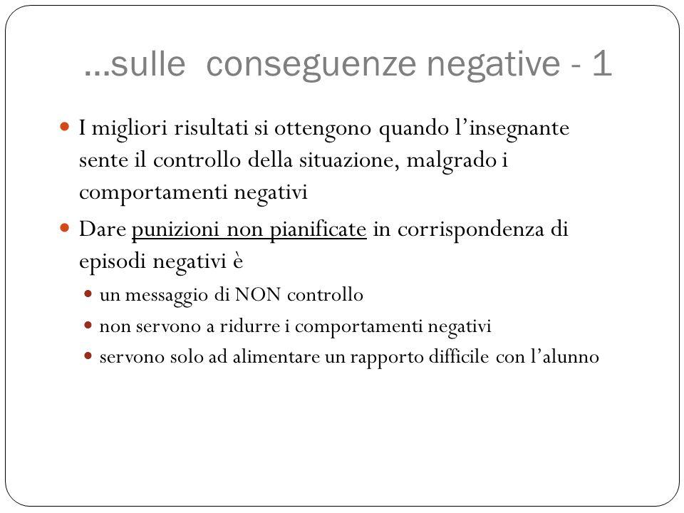 …sulle conseguenze negative - 1