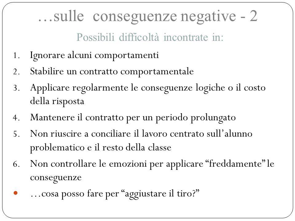 …sulle conseguenze negative - 2