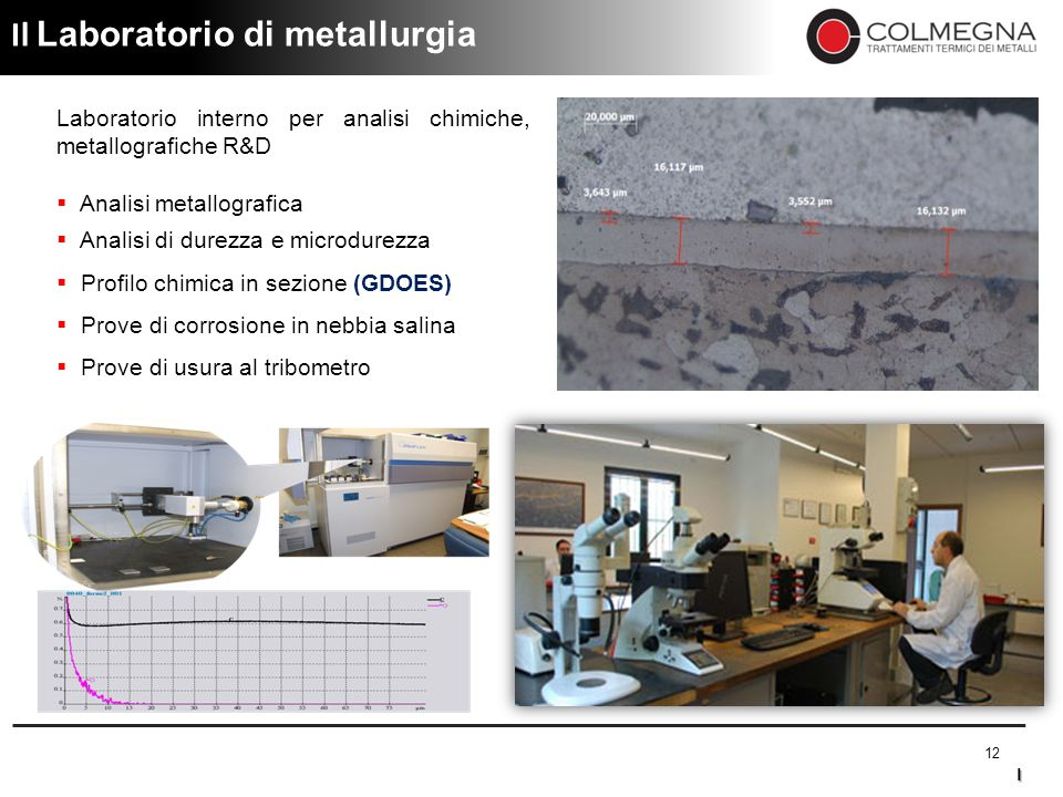 Il Laboratorio di metallurgia