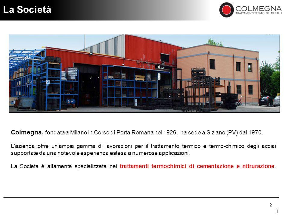 La Società Colmegna, fondata a Milano in Corso di Porta Romana nel 1926, ha sede a Siziano (PV) dal 1970.