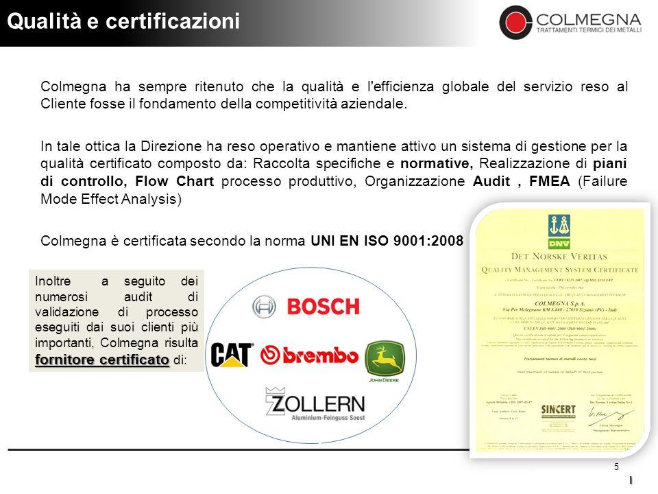 Qualità e certificazioni