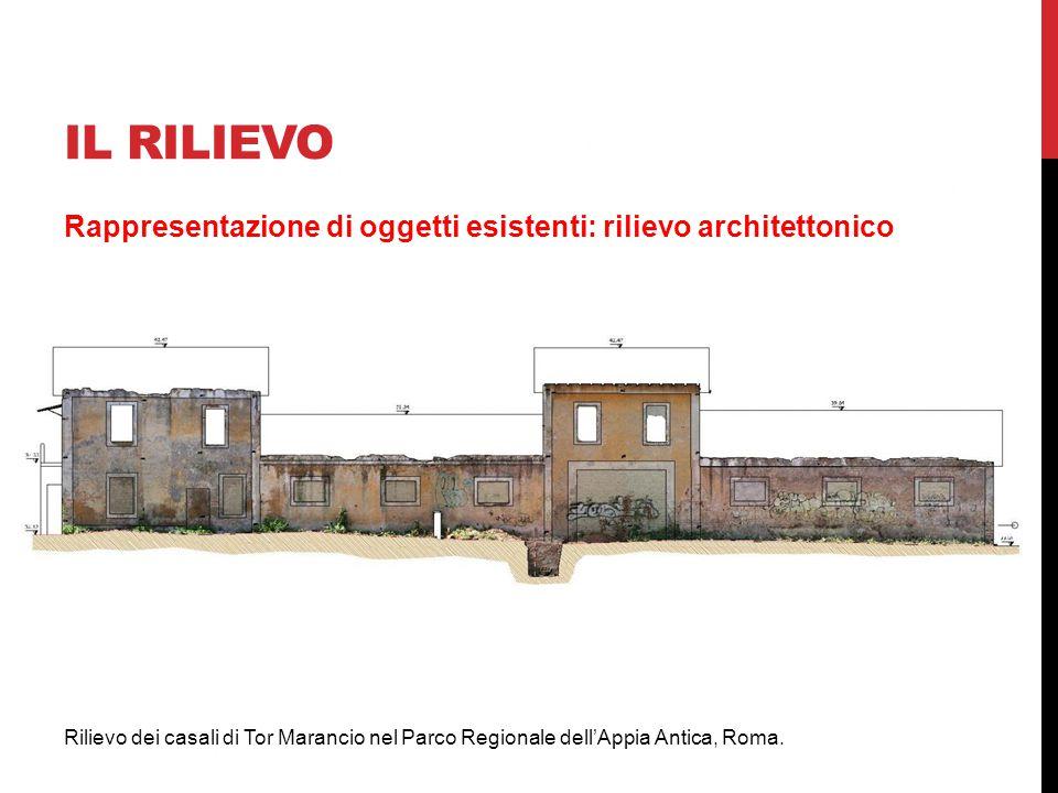 IL RILIEVO Rappresentazione di oggetti esistenti: rilievo architettonico.