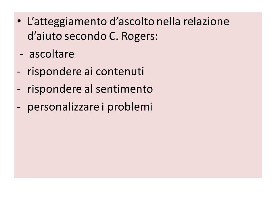 L'atteggiamento d'ascolto nella relazione d'aiuto secondo C. Rogers: