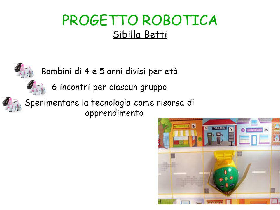 PROGETTO ROBOTICA Sibilla Betti
