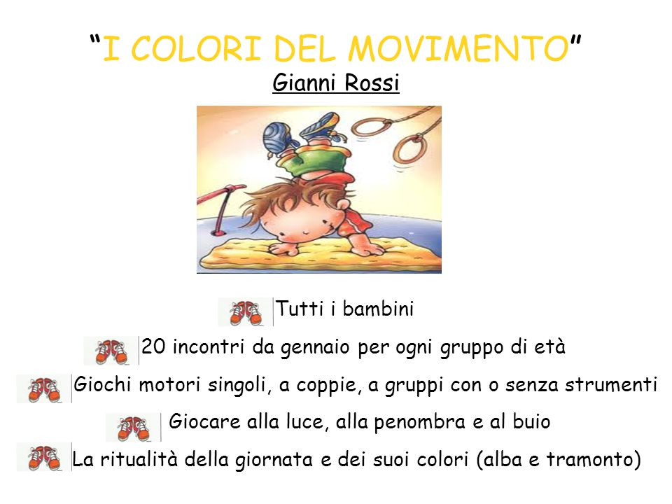 I COLORI DEL MOVIMENTO Gianni Rossi