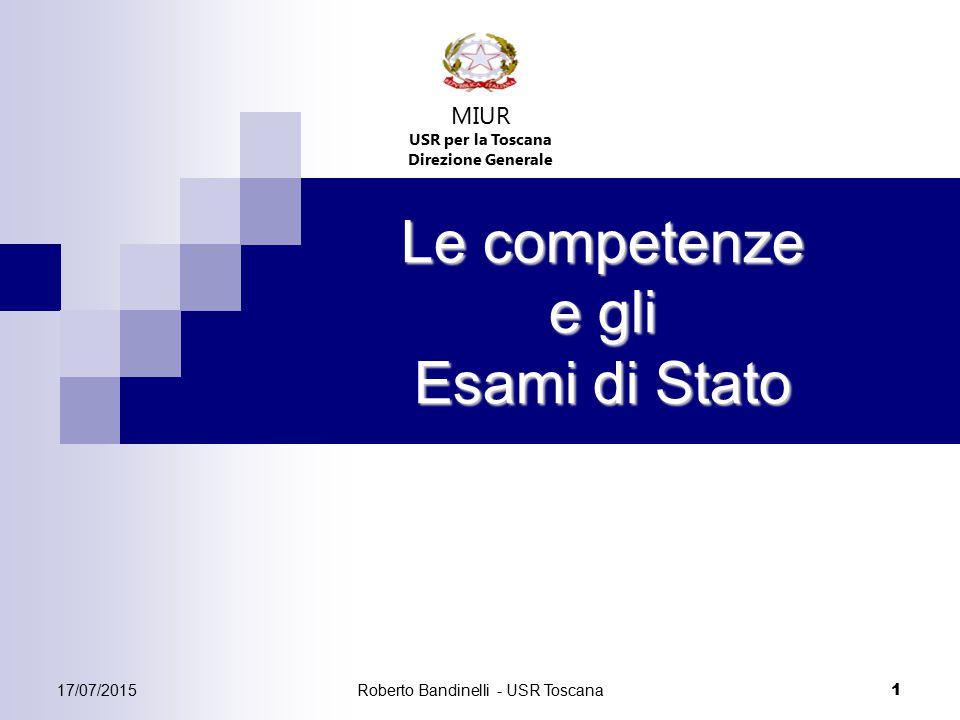 Le competenze e gli Esami di Stato