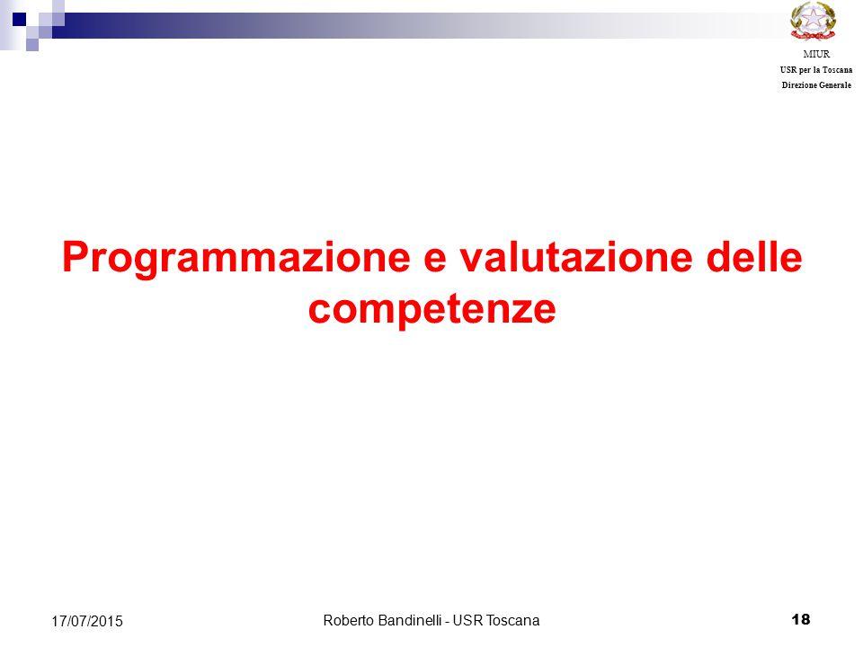Programmazione e valutazione delle competenze