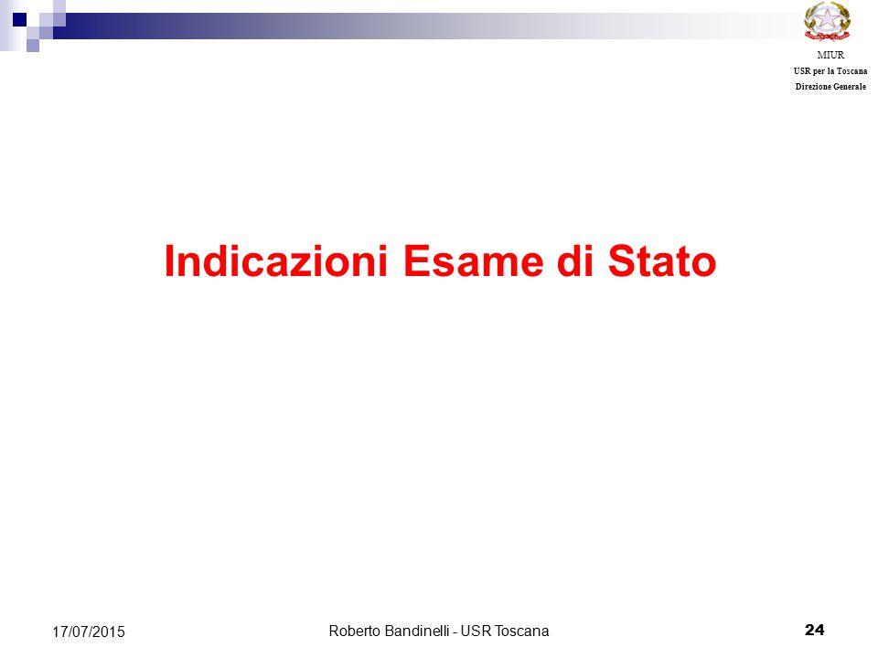 Indicazioni Esame di Stato