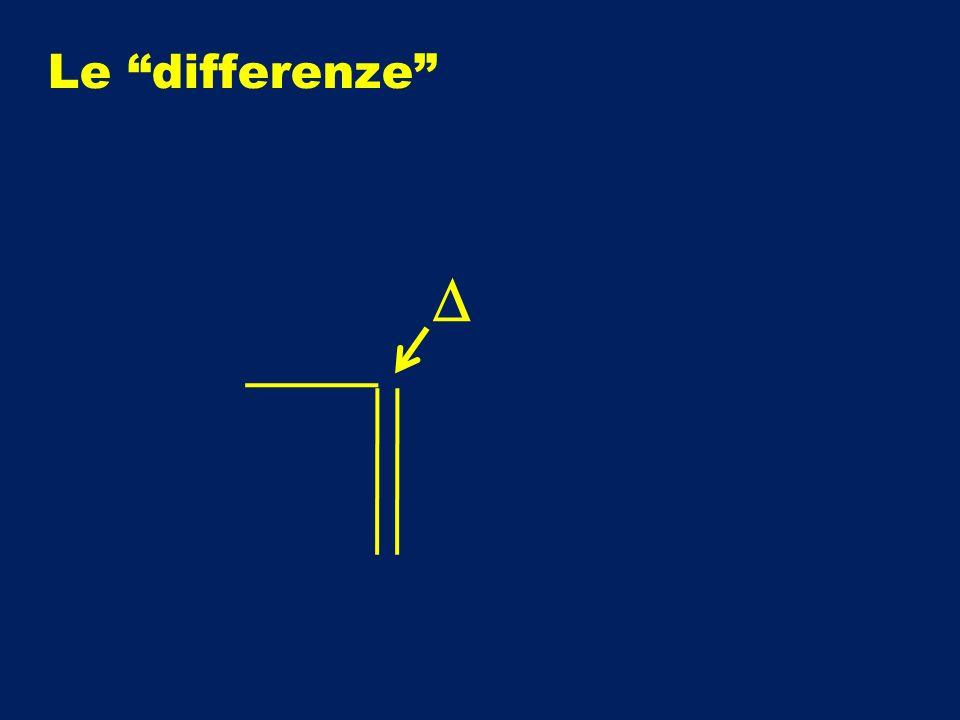 Le differenze D