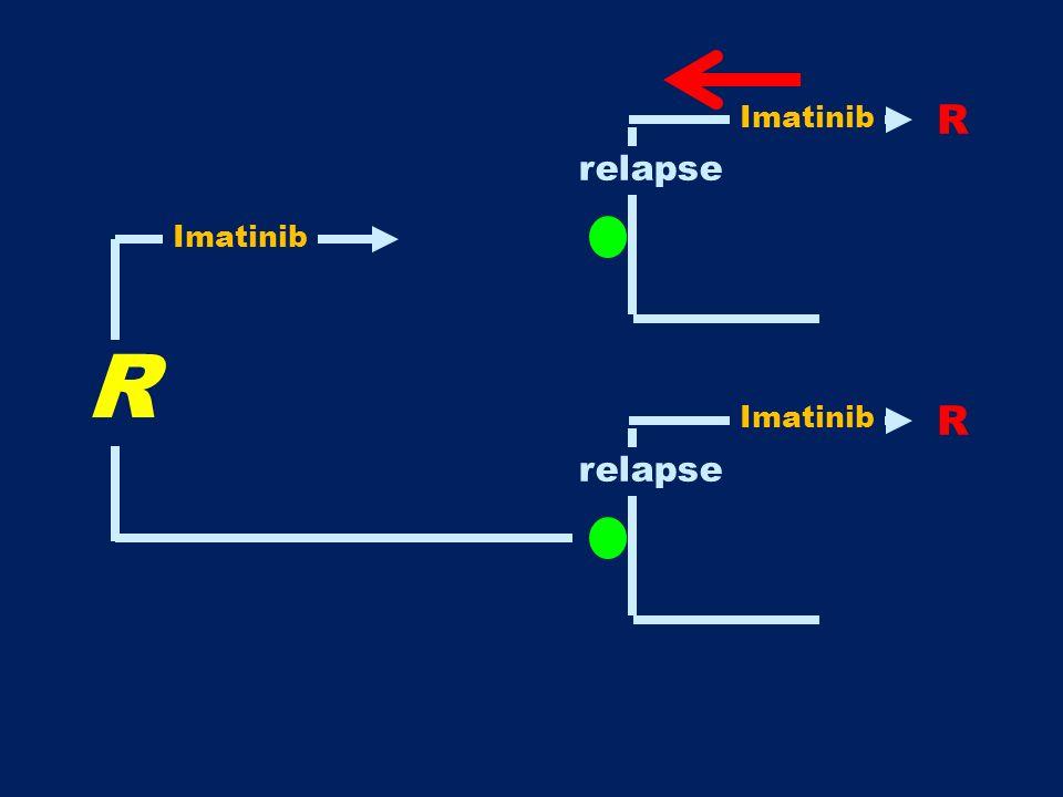 Imatinib R relapse Imatinib R Imatinib R relapse