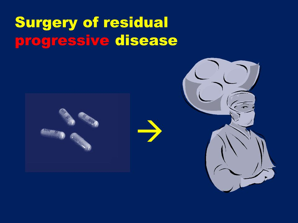 Surgery of residual progressive disease