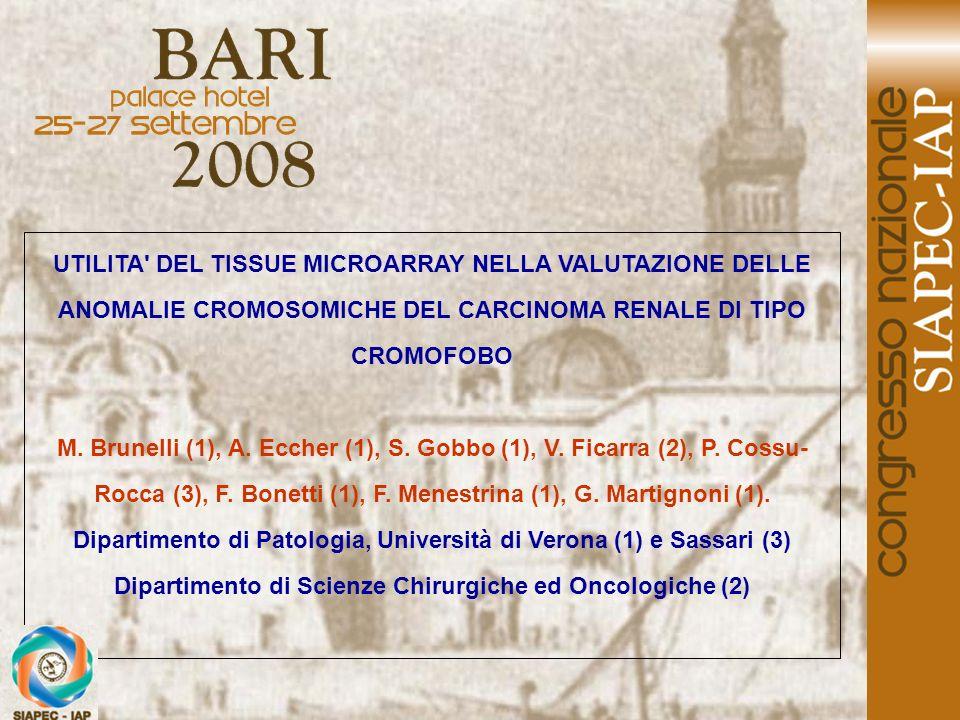 Dipartimento di Patologia, Università di Verona (1) e Sassari (3)