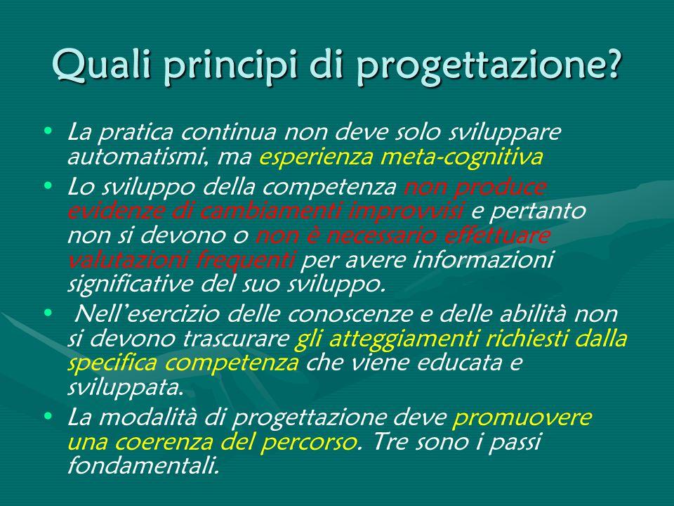 Quali principi di progettazione