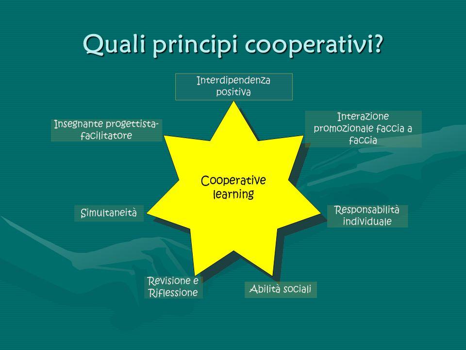 Quali principi cooperativi