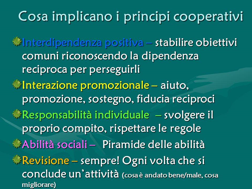 Cosa implicano i principi cooperativi