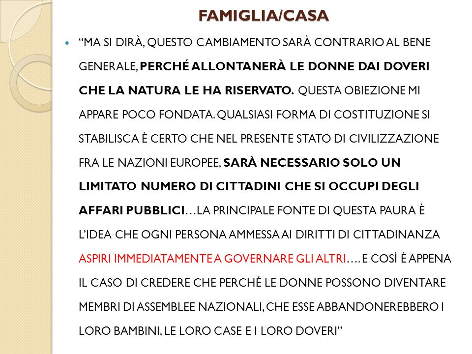 FAMIGLIA/CASA