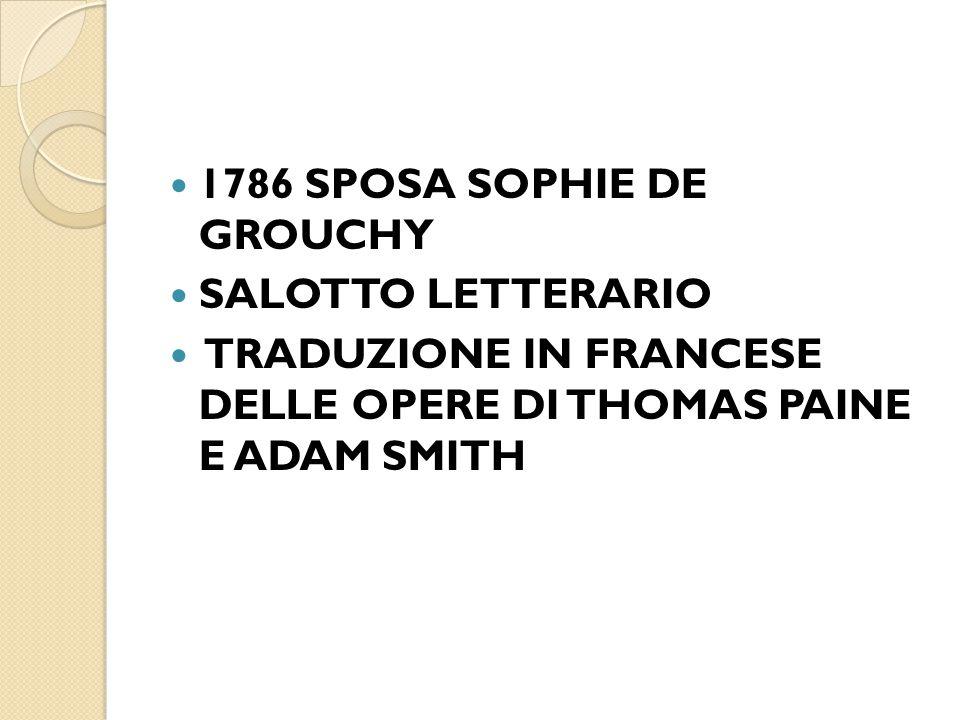 1786 SPOSA SOPHIE DE GROUCHY