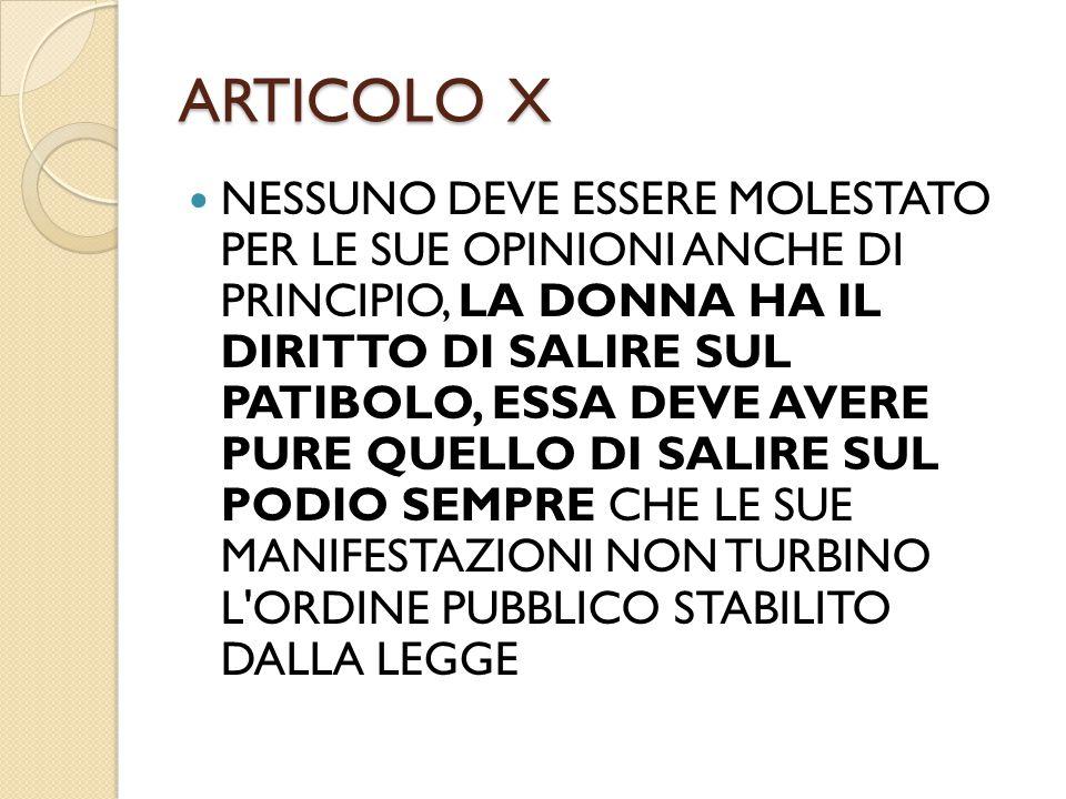 ARTICOLO X