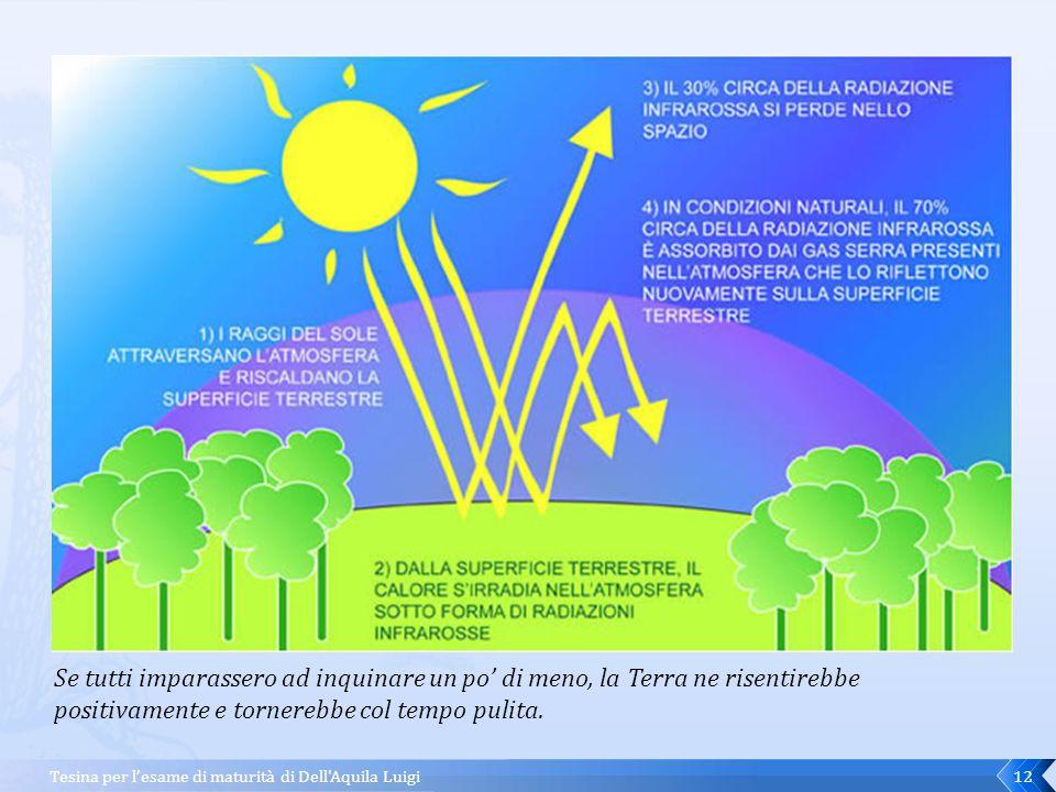 Se tutti imparassero ad inquinare un po' di meno, la Terra ne risentirebbe positivamente e tornerebbe col tempo pulita.
