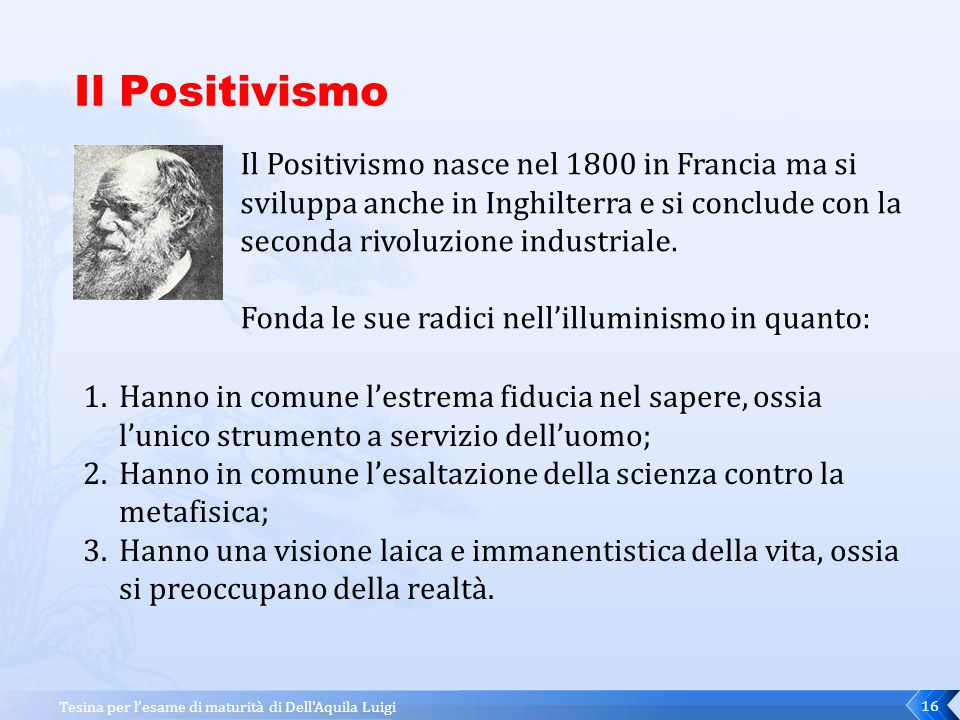 Il Positivismo Il Positivismo nasce nel 1800 in Francia ma si sviluppa anche in Inghilterra e si conclude con la seconda rivoluzione industriale.