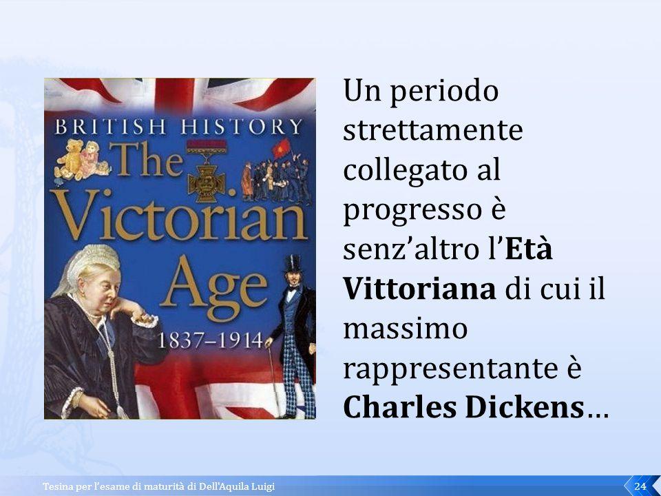Un periodo strettamente collegato al progresso è senz'altro l'Età Vittoriana di cui il massimo rappresentante è Charles Dickens…