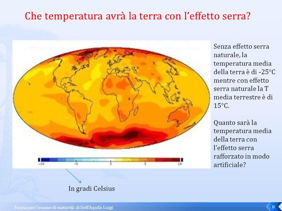 Che temperatura avrà la terra con l'effetto serra