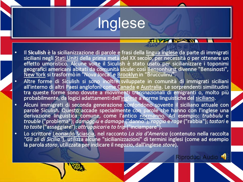Inglese Riproduci Audio >>
