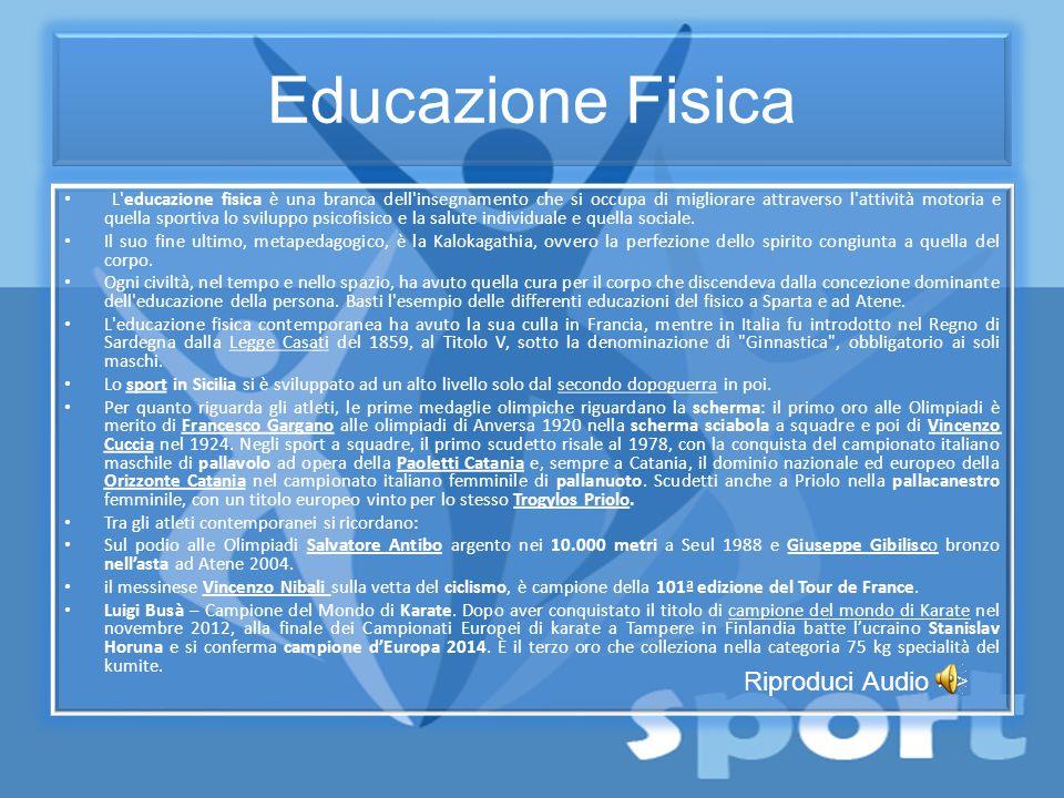 Educazione Fisica Riproduci Audio >>