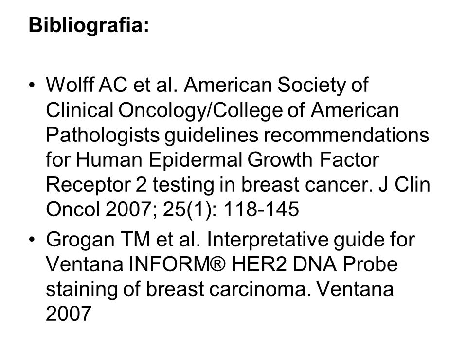 american society of clinical oncology guidelines