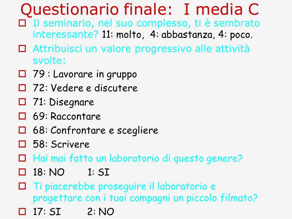 Questionario finale: I media C