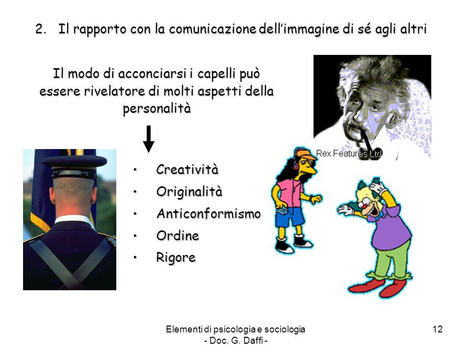 Il rapporto con la comunicazione dell'immagine di sé agli altri