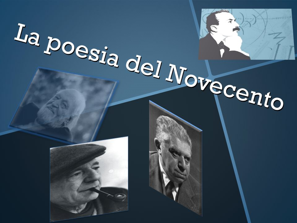 La poesia del Novecento