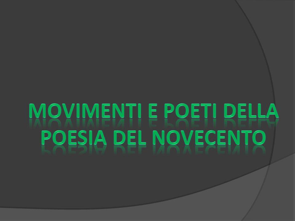 Movimenti e poeti della poesia del Novecento